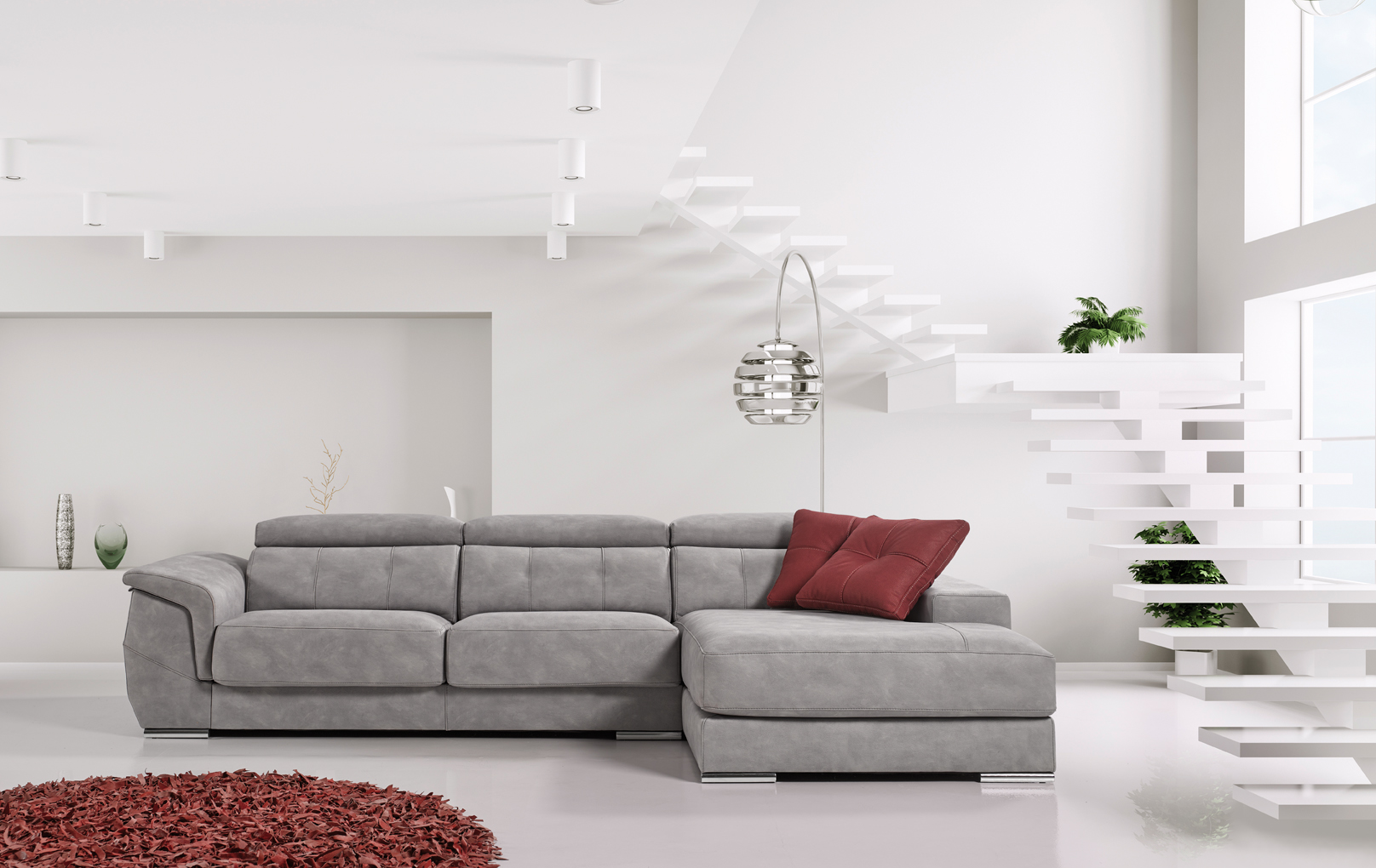 Tendencia decorativa mismo color en sof y pared for Sofas grises decoracion